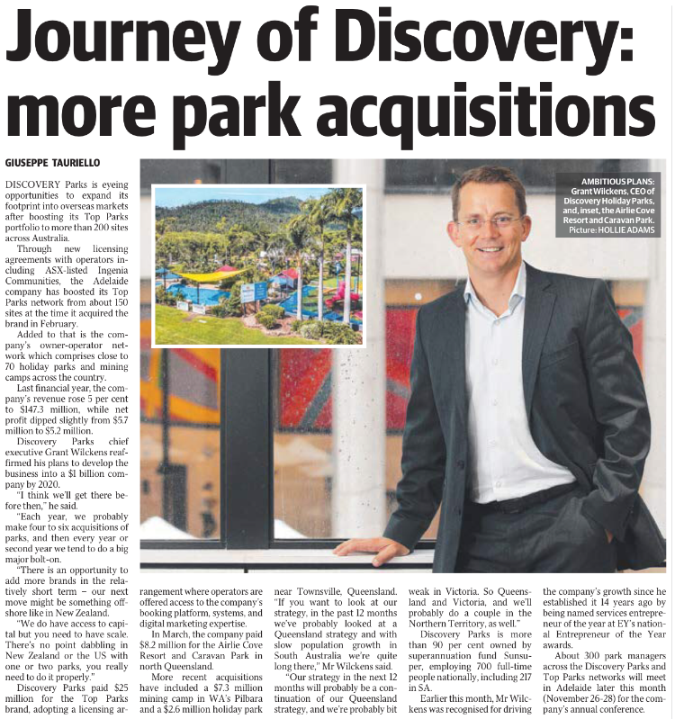 Journey of Discovery Advertiser Article 17/11/2018